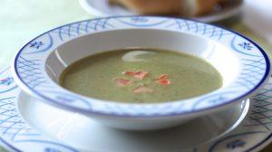 ほうれん草スープにも玄米入れて・・・!