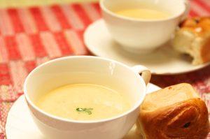 コーンスープに玄米いれても合いますよ!