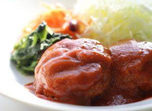 野菜ジュースで作るソースも優しいお味ですよー!