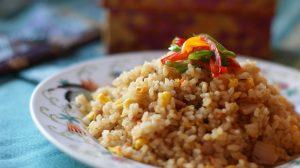 玄米なので、炒めたようなパラパラ感!!でもふっくらと炊きあがっています!